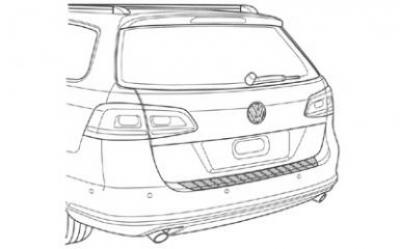 VW Trunk Sill Protection (Passat Variant(B7)) image 1