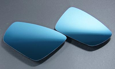 AUTO STYLE WIDE VIEW BLUE DOOR MIRROR LENS (Polo(6R)) image 1